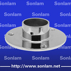 stainless steel handrail post flange for round pipe