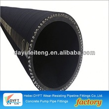 "ihi 5.5"" concrete pump fabric hose DN100*8M chinese industrial steel wire reinforced concrete pump and hose whip"