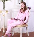 100% algodón camisa de dormir atractiva caliente para para y escote con la flor y la recolección