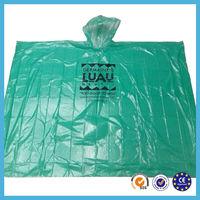 2015 new arrival fashion design green simple adult rain poncho