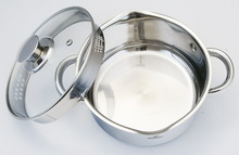 pouring spouts and straining lids two mouths cookware,easy cooking cookware