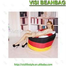 Classic waterproof polyester footbal bean bag chair