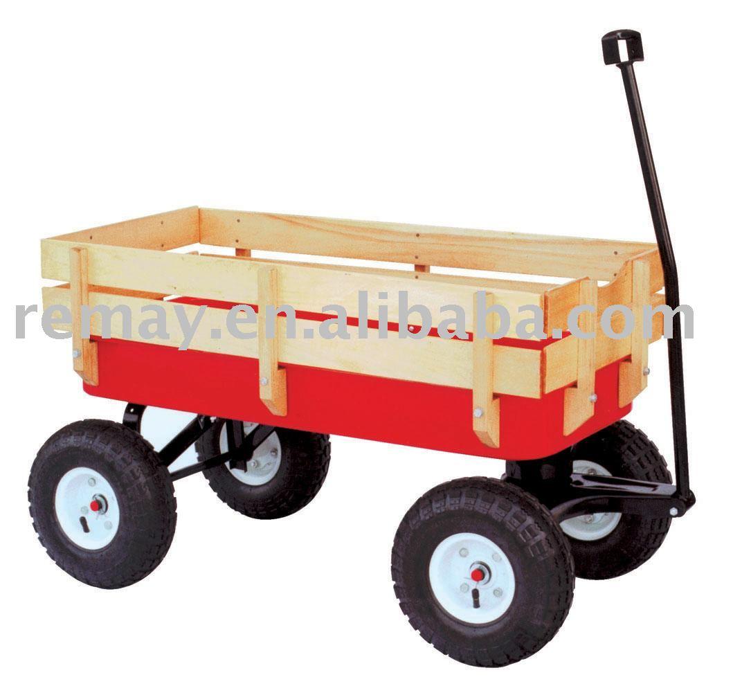 Tire del carro tc1831 jard n carro de la herramienta for Carritos de madera para jardin
