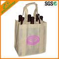 6 paketi promosyon geri dönüşümlü olmayan dokuma şarap şişesi çantası, yeniden şarap şişesi çantası