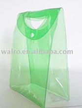 clear PVC zipper tote bags