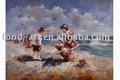 Yağlıboya, çocuklar yağlıboya%, el yapımı plaj yağlıboya