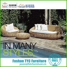 2013 fashionable round rattan leisure sofas
