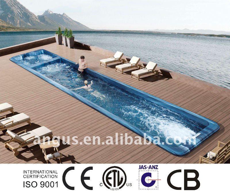Grand spa de nage yh s12 avec massage de l 39 eau baignoire bains th r - Spa de nage prix usine ...