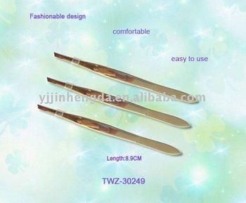 Hot stainless steel eyebrow tweezers
