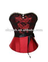 New arrival satin half cup corset lingerie