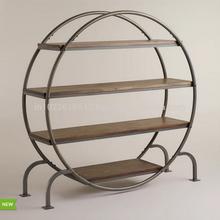 Industrial Bookcase, Industrial Furniture, Round Book self