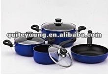 Classic 7pc iron cast cookware set w/ fry pan, milk pot & 2 saucepots/casseroles