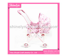 2595-T Newest pink lovely baby doll strollers toy for kids factory wholesale custom design top selling pram for doll toys