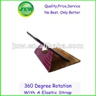 2012 new factory leather accessory for ipad stand 360 degree rotates,for ipad rock case