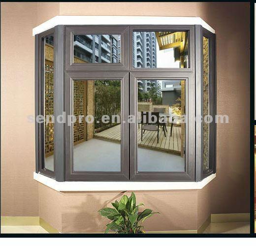 Doble mec nica toughed de aluminio mirador de aluminio de for Energy efficient bay windows