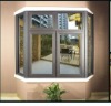 Double toughed glass aluminum bay window,aluminum french window