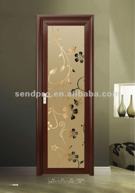 Puertas Para Baño En Puerto Ordaz:Tamaño estándar de aluminio de vidrio puerta del baño-Puertas