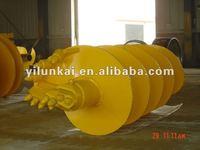 Single-head single-spiral rock drilling auger