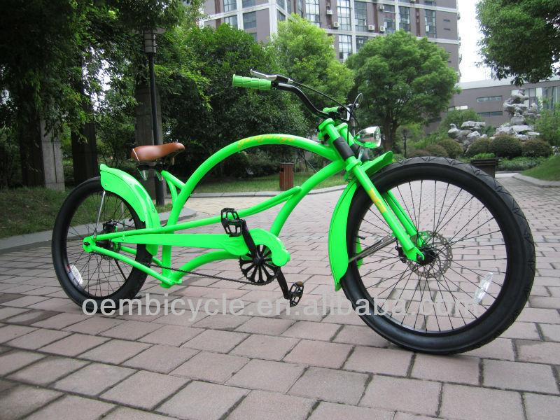 24นิ้วที่มีสีเขียวผู้ใหญ่ชายหาดลาดตระเวนจักรยานไฮบริดสับ