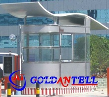 Security retractable safety prefab steel house & mobile sentry box & modular steel house