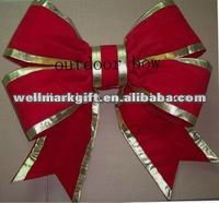 HOT SALE! 24 Inch Large Red Velvet 3D Structural Christmas Ornament Bow Tie