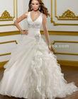 Distributor Hot Sale New Arrival Tassel White Organza Wedding Gown