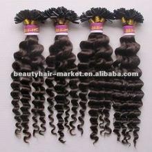 100% Keratin Tip,Pre-bonded Deep Wave Human Hair Extension