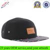 100 Cotton Aztec Flat Brim Leather Patch 5 Panel Hat Wholesale Custom 5 Panel Hat