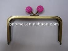 "6.2"" Antique brass Purse Handbag Coins Metal Frame kiss clasp"