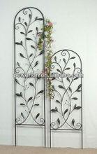 Classic decorative wrought iron black metal flower trellis
