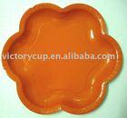 flower shape paper plate
