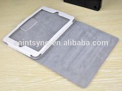 13003 Beautiful genuine leather printing stand smart case for ipad mini