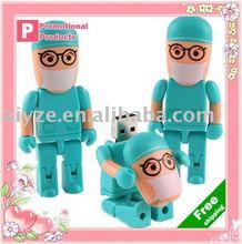 OEM doctor shape 2GB flash drive,toy bricks