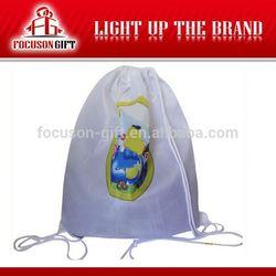 Best selling promotion drawstring cotton bag