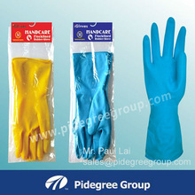 Extra long household rubber cleaning gloves latex household gloves