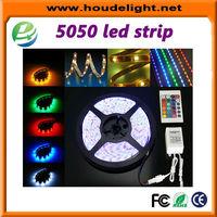 super bright 12 volt leds IP65 5m 300SMD RGB 5050 led strip light