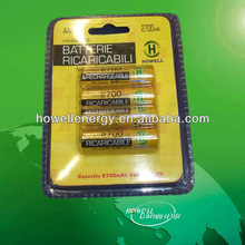 AA battery/1.5V AA Rechargeable Battery with blister card