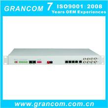 30 FXO/FXS + 4E1 + 4FE PCM Multiplexer over Fiber Optic