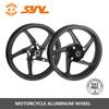 Double disc brake racing motorcycle wheel