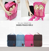 nylon waterproof travel bag,multifunction 3 pairs travel bag, DINIWELL shoes pouch