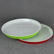 Two-tone Melamine Round Tray