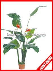 artificial bird of paradise flower bonsai