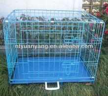 factory for best pet USA market blue color folding wire pet dog crate