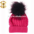 a prueba de viento de lana sombrero de invierno con perro mapache piel de mujer sexy chica punto sombrero de estilo ruso sombrero de piel