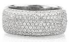 Unique Design Diamond Gold Rings Jewelry, 18k White Gold Diamond Rings, Micro Pave Setting Diamond Rings