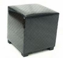 Square Leather Storage Footstools Ottoman