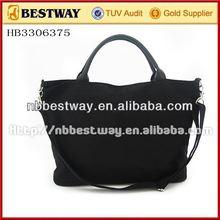 Fashion lady canvas stripe handbag shoulder bag purse shopping tote