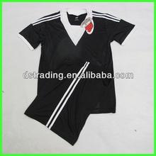 2015 Hot sale Training Soccer Jersey, black soccer uniforms, soccer kits