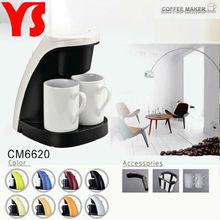 CE GS Certificied 2 cup mini coffee maker with 2 pocelain cups cinlude