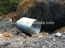 corrugated culvert as the small bridge in mine site
